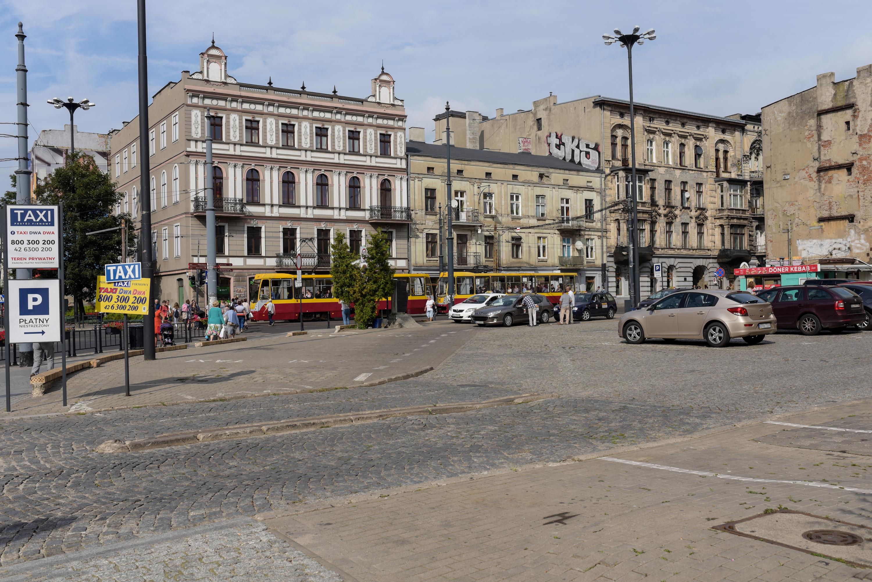 Łódź Śródmieście ulice Kościuszki i Zielona