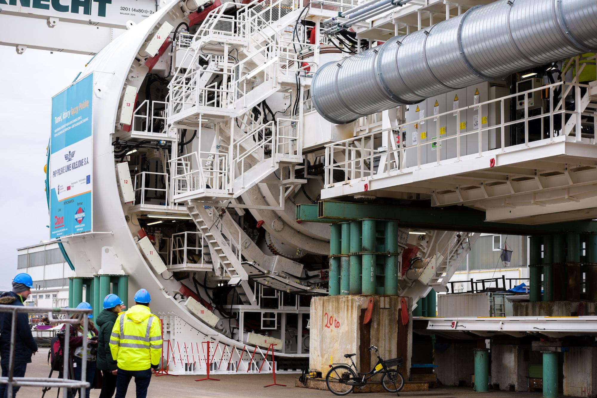 Prezentacja dużej maszyny TBM