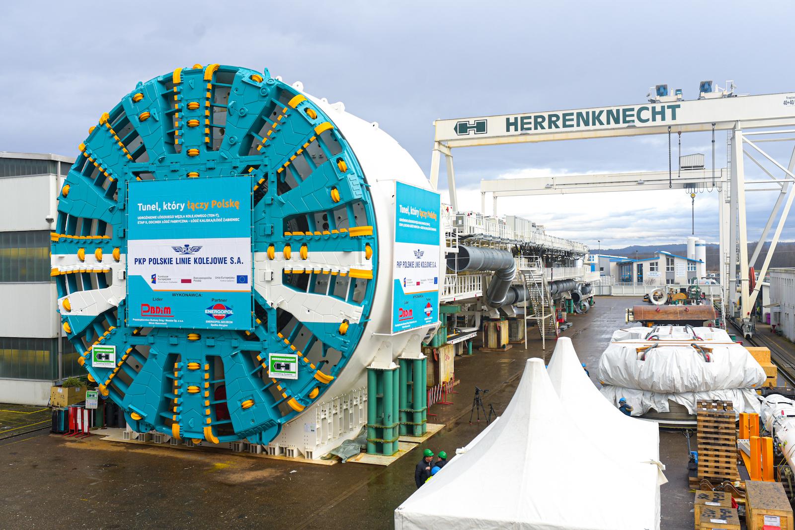 Odbiór największej maszyny do drążenia tunelu