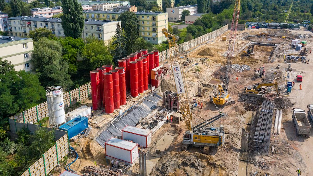Plac budowy tunelu w Łodzi