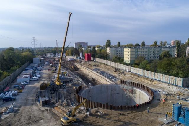 Budowa tunelu wŁodzi - ul.Stolarska